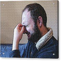 Depression Acrylic Print by Darren Stein