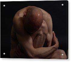 Depression Hits Acrylic Print by Robert Gebbie