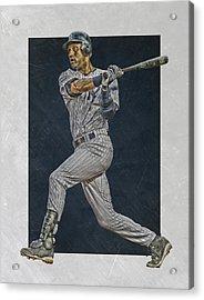 Derek Jeter New York Yankees Art 2 Acrylic Print by Joe Hamilton