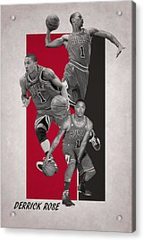 Derrick Rose Chicago Bulls Acrylic Print by Joe Hamilton