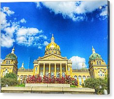 Des Moines-capital City Acrylic Print by Jame Hayes