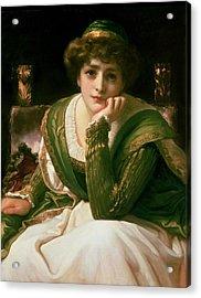 Desdemona Acrylic Print by Frederic Leighton