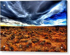 Desert Clouds Acrylic Print by Tom Melo