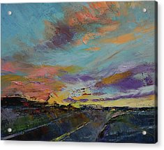 Desert Highway Acrylic Print by Michael Creese
