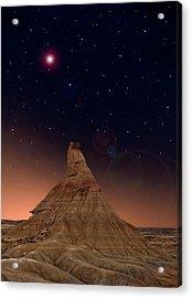 Desert Night Acrylic Print by Inigo Cia