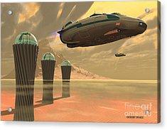 Desert Planet Acrylic Print by Corey Ford