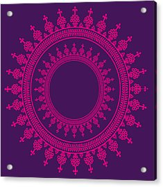 Design In Pink Acrylic Print by Art Spectrum