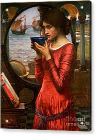 Destiny Acrylic Print by John William Waterhouse