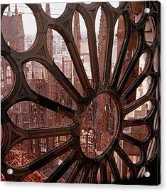 Detail Of La Sagrada Familia, Barcelona, Spain Acrylic Print by Tobias Titz