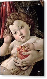 Detail Of The Christ Child From The Madonna Of The Pomegranate  Acrylic Print by Sandro Botticelli