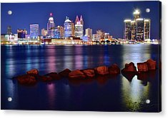 Detroit Alive And Well Acrylic Print by Frozen in Time Fine Art Photography