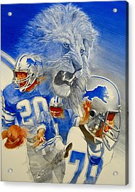 Detroit Lions Game Day Cover Acrylic Print by Cliff Spohn
