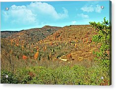 Devils Courthouse Acrylic Print by Susan Leggett