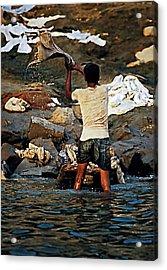 Dhobi Wallah Acrylic Print by Steve Harrington
