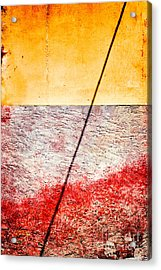 Diagonal Shadow On Wall Acrylic Print by Silvia Ganora