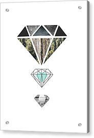 Diamond Art Print Acrylic Print by Manuela Pugliese