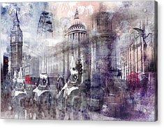 Digital-art London Composing II Acrylic Print by Melanie Viola