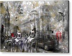 Digital-art London Composing IIi Acrylic Print by Melanie Viola