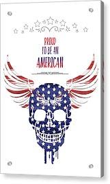 Digital-art Patriotism Acrylic Print by Melanie Viola