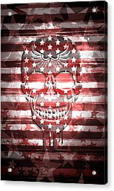 Digital-art Skull Acrylic Print by Melanie Viola
