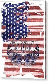 Digital-art True Patriot Acrylic Print by Melanie Viola