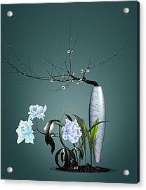 Digital Flower Arrangement 0204 Acrylic Print by GuoJun Pan