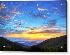 Digital Liquid - Good Morning Virginia Acrylic Print by Metro DC Photography