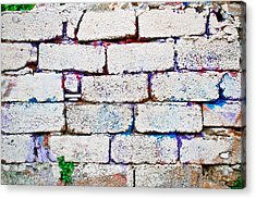 Dilapidated Brick Wall Acrylic Print by Tom Gowanlock