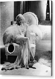Dinner At Eight, Jean Harlow Acrylic Print by Everett