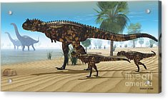 Dinosaur Oasis Acrylic Print by Corey Ford