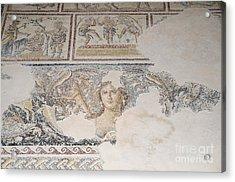 Dionysus Mosaic Mona Lisa Of The Galilee Acrylic Print by Ilan Rosen