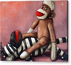 Dirty Socks 3 Playing Dirty Acrylic Print by Leah Saulnier The Painting Maniac