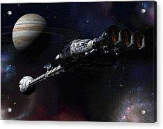 Discovery Near Jupiter Acrylic Print by Joseph Soiza