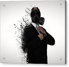 Dissolution Of Man Acrylic Print by Nicklas Gustafsson