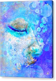 Distaff Sleep Acrylic Print by Moon Stumpp
