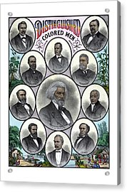 Distinguished Colored Men Acrylic Print by War Is Hell Store