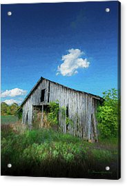 Distress Barn Acrylic Print by Marvin Spates