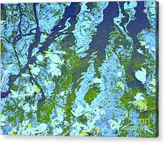 Disturbed Blues Acrylic Print by Sybil Staples