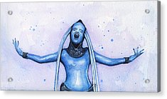 Diva Plavalaguna Fifth Element Acrylic Print by Olga Shvartsur