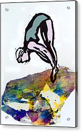 Dive - Evening Pool Acrylic Print by Adam Kissel