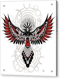 Divine Crow Woman Acrylic Print by Sassan Filsoof
