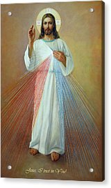 Divine Mercy - Jesus I Trust In You Acrylic Print by Svitozar Nenyuk