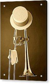 Dixieland Trombone Acrylic Print by M K  Miller