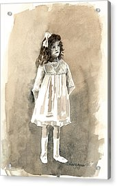 Do I Have To Wear A Dress Acrylic Print by Arline Wagner