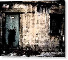 Do Not Enter Acrylic Print by Courtney Rush
