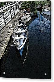 Dockside Quietude Acrylic Print by Tim Allen