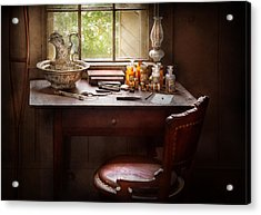 Doctor - Research  Acrylic Print by Mike Savad