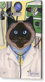Doctor Cat Acrylic Print by Carol Wilson
