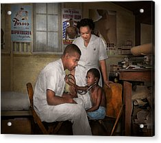 Doctor - Pediatrician - From The Heart 1942 Acrylic Print by Mike Savad