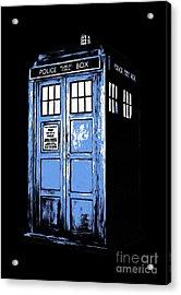 Doctor Who Tardis Acrylic Print by Edward Fielding